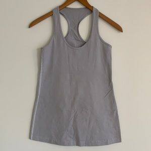 lululemon Cool Racerback Tank Grey Stripe Sz6